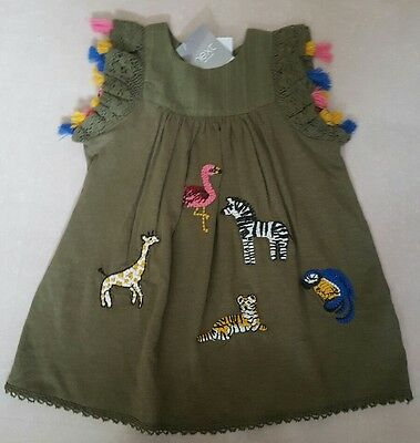 Next girls dress khaki 9-12 months