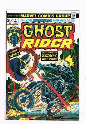 Ghost Rider # 5  The Man who Gambles with Death ! grade 8.0 scarce book !!