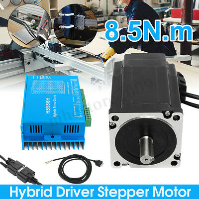 NEMA34 8.5N.m 6A 86 Closed Loop Motor + Stepper Driver HSS86 + Encoding Line