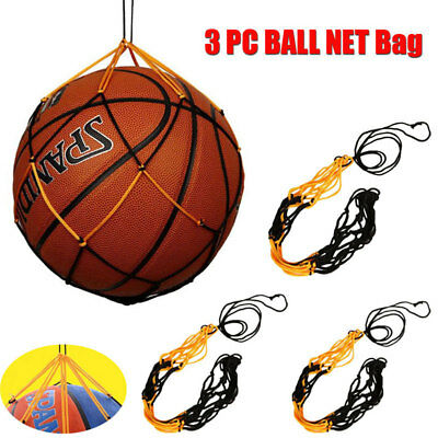 Drawstring Nylon Mesh Net Bag Carrier For Sports Volleyball Basketball Football