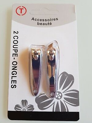 Lot De 2 Coupe Ongles Manucure Pedicure