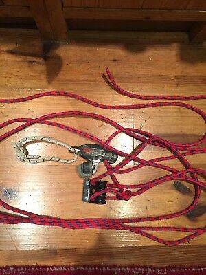 Dinghy Block & Tackle With Jammer And Rope