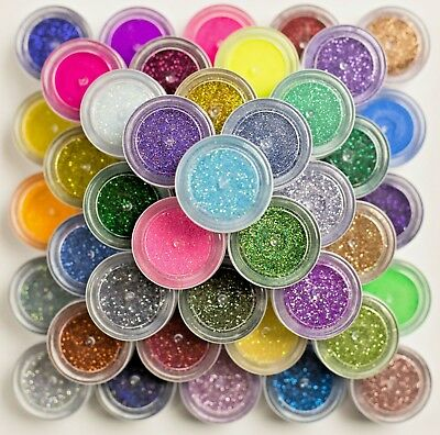 Cosmetic Body Glitter Pots Bath Bomb & Soap Handmade Nail Art Fine 0.008