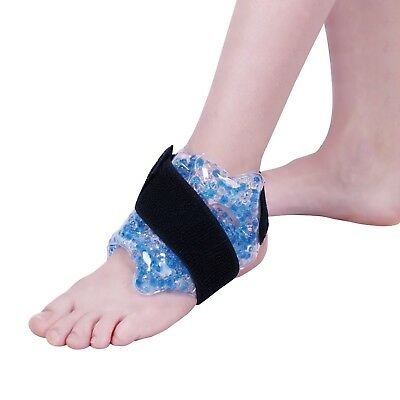 Zhu-Zhu Ankle Hot & Cold Pack Therapeutic Gel Beads Joint Pain Relief Heat Wrap