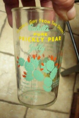 Vintage   Cahill's Cactus Prickly Pear Jelly Jar Juice Glass  NICE 1958