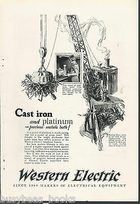 1925 WESTERN ELECTRIC advertisement, Scrap metal and platinum