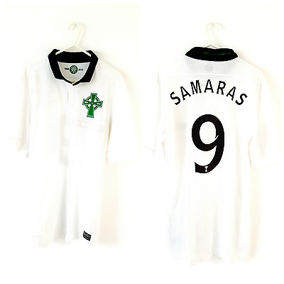 Celtic Samaras 3rd Shirt 2012. Small Adults. Nike. White Short Sleeves Top Only.