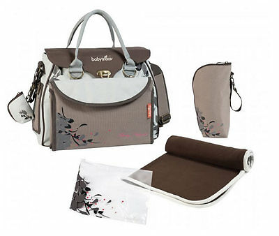 Brand new Babymoov maternity changing bag baby style Natural with changing mat