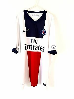 PSG Away Shirt 2013. XXL. Nike. White Adults Short Sleeves Football Top Only.