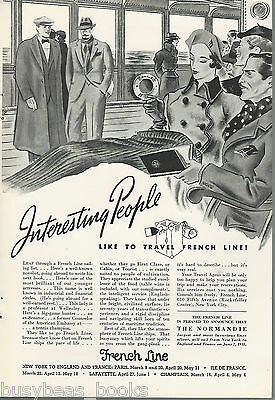 1935 FRENCH LINE advertisement, Interesting people on board