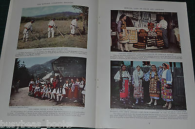 1934 magazine article ROMANIA, American woman's visit, 67 photos 29 in color