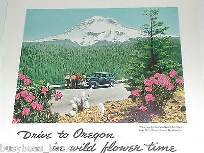 1939 Oregon State Highway Commission ad full page color