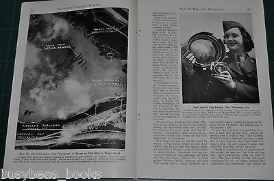 1944 magazine article about AERIAL PHOTOGRAPHY in WWII, Allied side