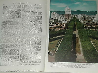 1948 magazine article about Belo Horizonte, Brazil, Mining, history color photos