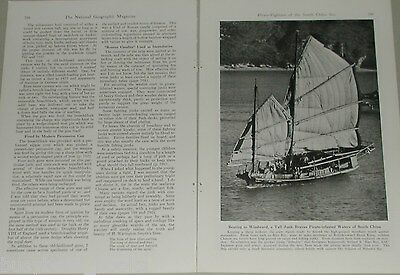 1946 magazine article about PIRACY In CHINA, armed Junks, naval cannons
