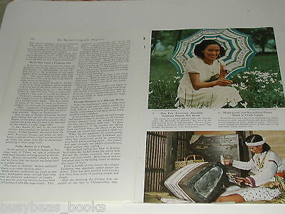 1950 magazine article about Formosa, TAIWAN, natives, color photos