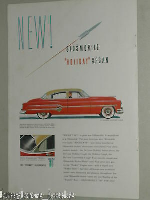 1951 Oldsmobile ad, color painting, 98, Rocket 98