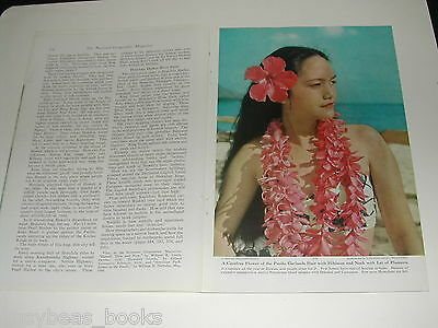 1949 magazine article on HAWAII, history natives business color photos, Aloha