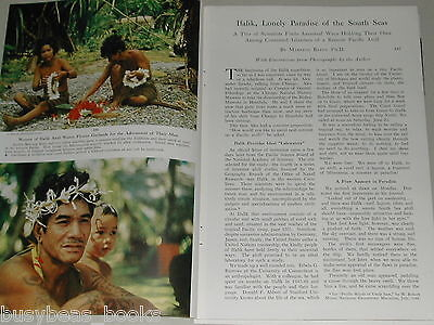 1956 magazine article about Ifalik, Micronesia, South Pacific Natives, color