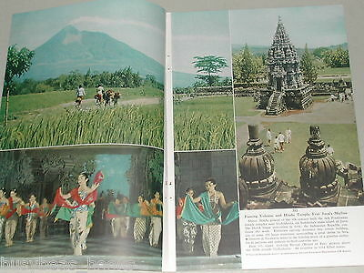 1955 magazine article about Indonesia, people, history, color photos