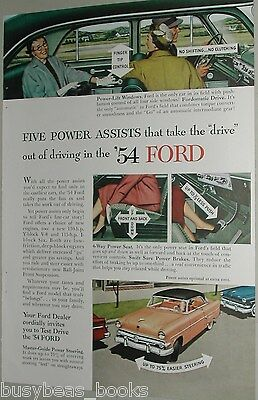 1954 Ford ad, Ford Victoria, power assists