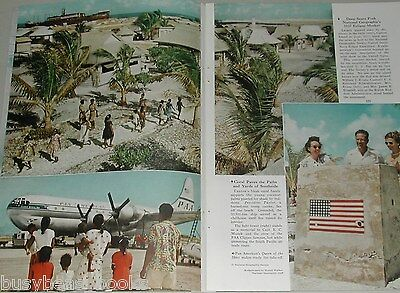1955 magazine article about CANTON ISLAND, South Pacific Atoll, air base etc