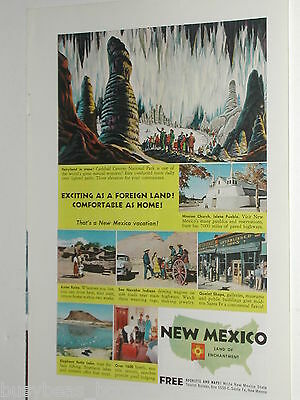 1955 New Mexico State Tourism ad, Carlsbad, Indians