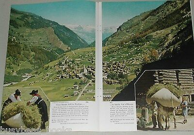 1955 magazine article about Val d'Herens SWITZERLAND, people, geography etc.
