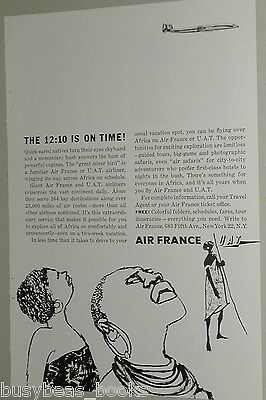 1958 Air France ad, African natives, Constellation