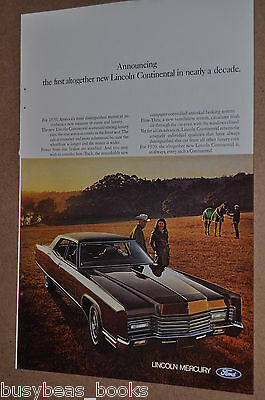 1970 LINCOLN CONTINENTAL advertisement, Ford Lincoln Continental, 2-door model