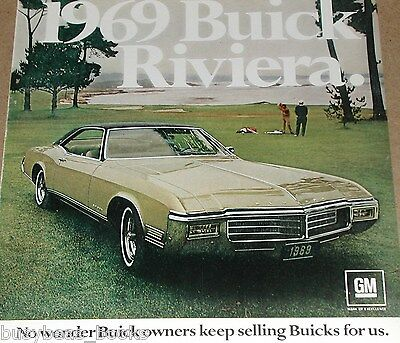 1969 BUICK RIVIERA  advertisement, Riviera coupe at Oceanside golf course