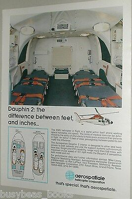 1987 Aerospatiale Helicopter ad Dauphin 2 air ambulance