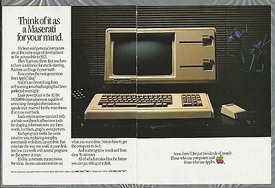 1983 APPLE Computer 2-page advertisement, Canadian advert, APPLE LISA computer