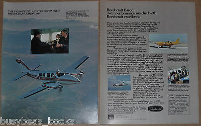 1978 Beechcraft BARON 2-page advertisement, color photos, info