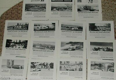 1966-72 AIRSTREAM TRAILER advertisements x15, Airstream Caravans Land Yachts etc
