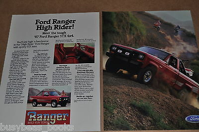 1987 FORD Ranger Pickup 2-page advertisement, Ford RANGER Pickup Truck
