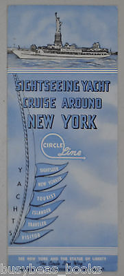 CIRCLE LINE sightseeing tours brochure, 1960s, New York City boat tour