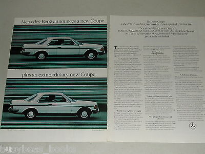 1978 Mercedes-Benz 2-page advertisement, Mercedes 280CE and 300CD