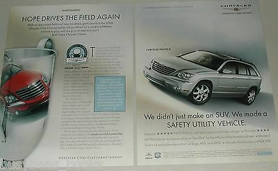 2005 Chrysler PACIFICA 2-page advertisement, Chrysler Cup Golf Championship