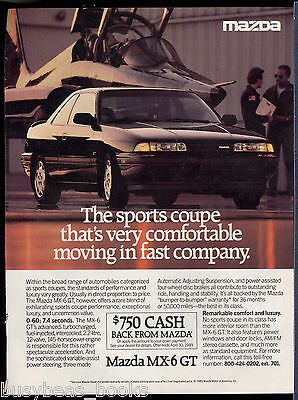 1989 MAZDA MX-6 advertisement, Mazda MX6 GT with jet fighter