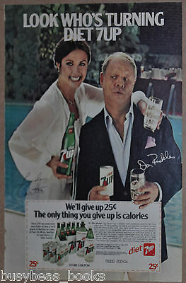1980 Diet 7 Up advertisement, with Wonder Woman LYNDA CARTER & Don Rickles