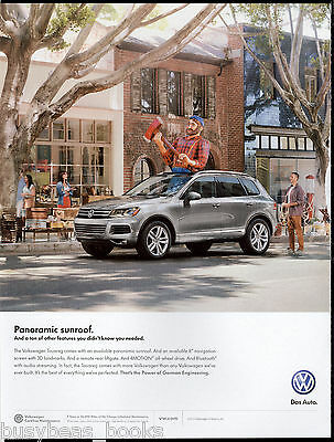 2013 VW TOUAREG advertisement, Volkswagen Touareg with Paul Bunyon