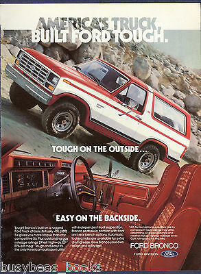 1982 FORD BRONCHO advertisement, large Ford Broncho 4x4