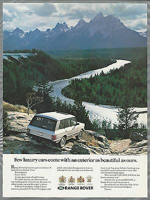 1989 RANGE ROVER advertisement, Land Rover ad, scenic view