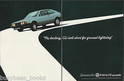 1980 VW SCIROCCO GLi 2-page advertisement, British advert, Volkswagen