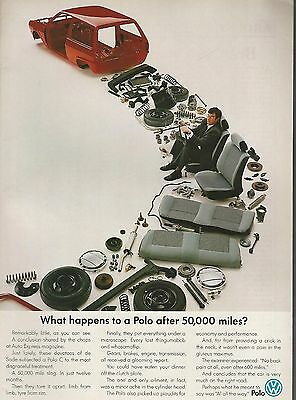 1989 VOLKSWAGEN POLO advertisement, British advert, VW Polo in pieces