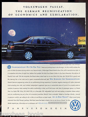 1992 VOLKSWAGEN PASSAT advertisement, VW Passat sedan, full moon