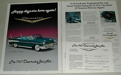 1989 Danbury Mint 2-page advertisement for the 1957 Chevrolet Bel Air model