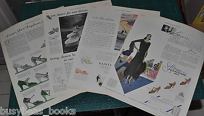 1930 WOMAN'S SHOES advertisements x3, High Heels etc, large size adverts