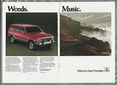 1988 JEEP CHEROKEE 2-page advertisement, Chrysler Jeep ad, Cherokee by the Sea